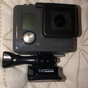 GoPro Hero with head strap & expandable stick, used for sale